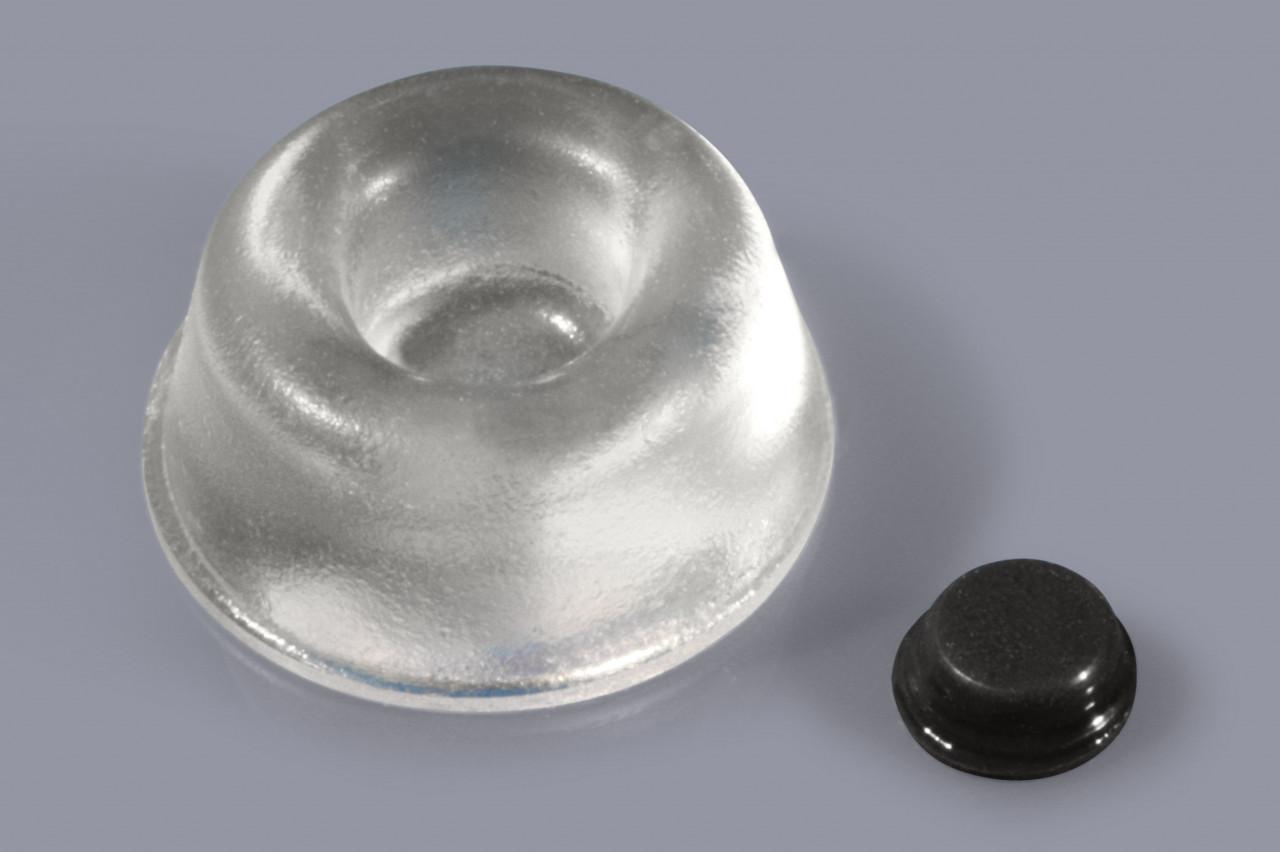 Elastikpuffer zum Kleben / Gehäusefüße mit Klebefolie / Klebefüße rund und abgerundet