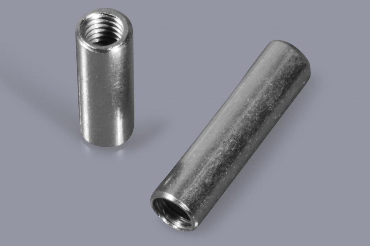 Distanzbolzen / Abstandsbolzen aus Metall mit Innen-/Innen-Gewinde (I/I), rund