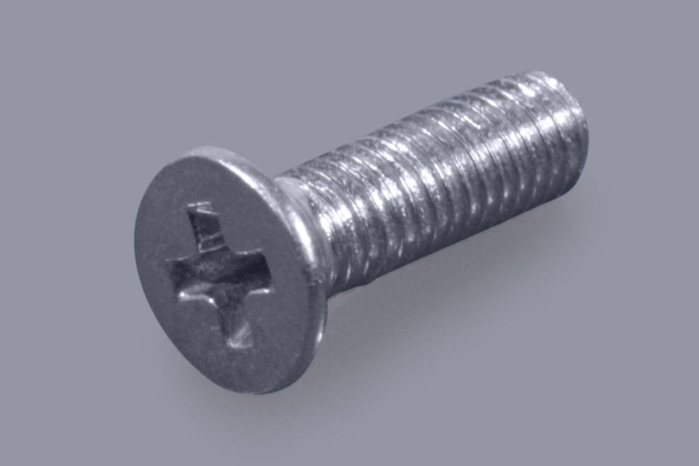 DIN 965 / ISO 7046 (Form H) - Metall-Schrauben Senkkopf + Phillips-Kreuzschlitz