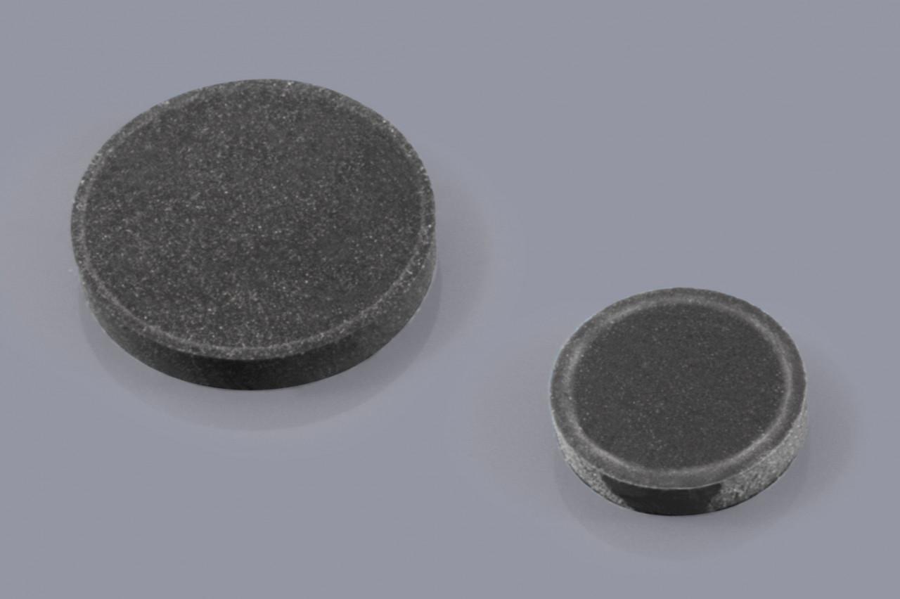 Elastikpuffer zum Kleben / Gehäusefüße mit Klebefolie / Klebefüße rund und flach
