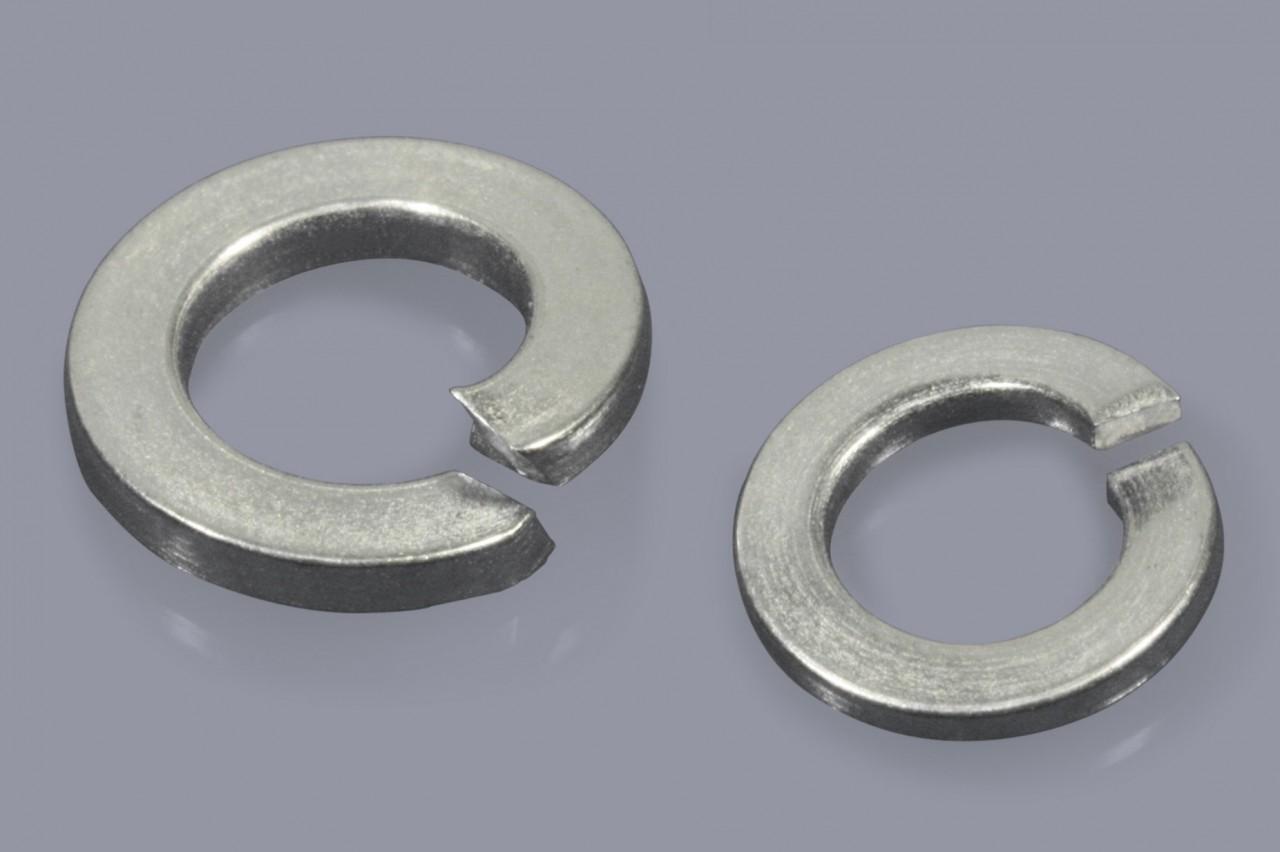 DIN 127 B - Federringe aus Metall glatt