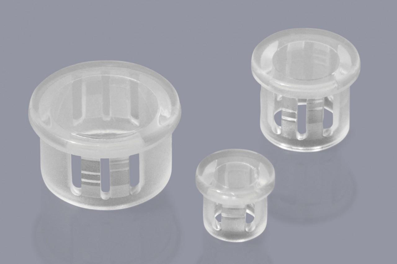 Verschlussstopfen einschnappend, transparent, klar oder matt