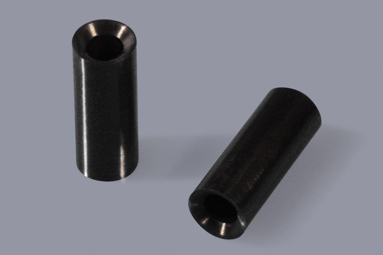 Distanzhülsen / Distanzröhrchen aus Kunststoff mit Senkung bzw. für Senkkopfschrauben