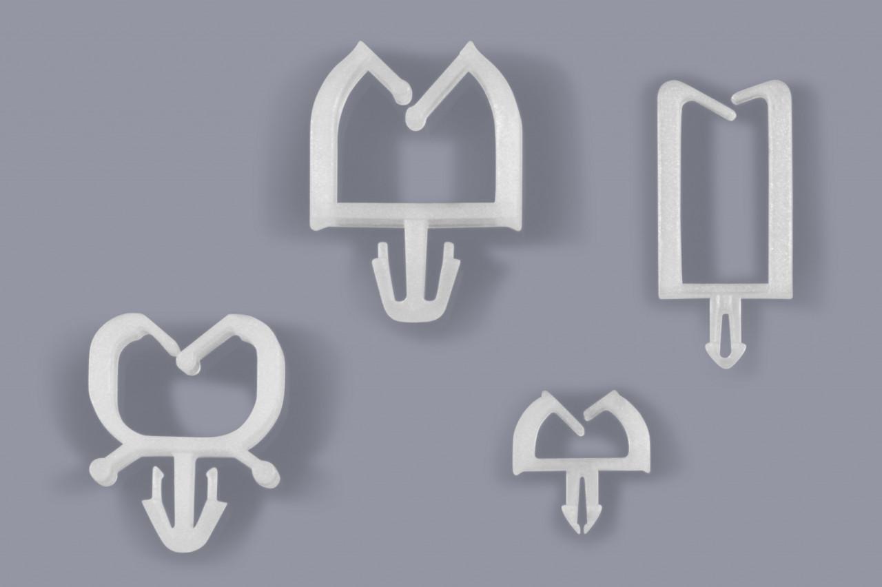 Kabelhalter miniatur für einzelne Litzen Litzenhalter zum Stecken oben geöffnet