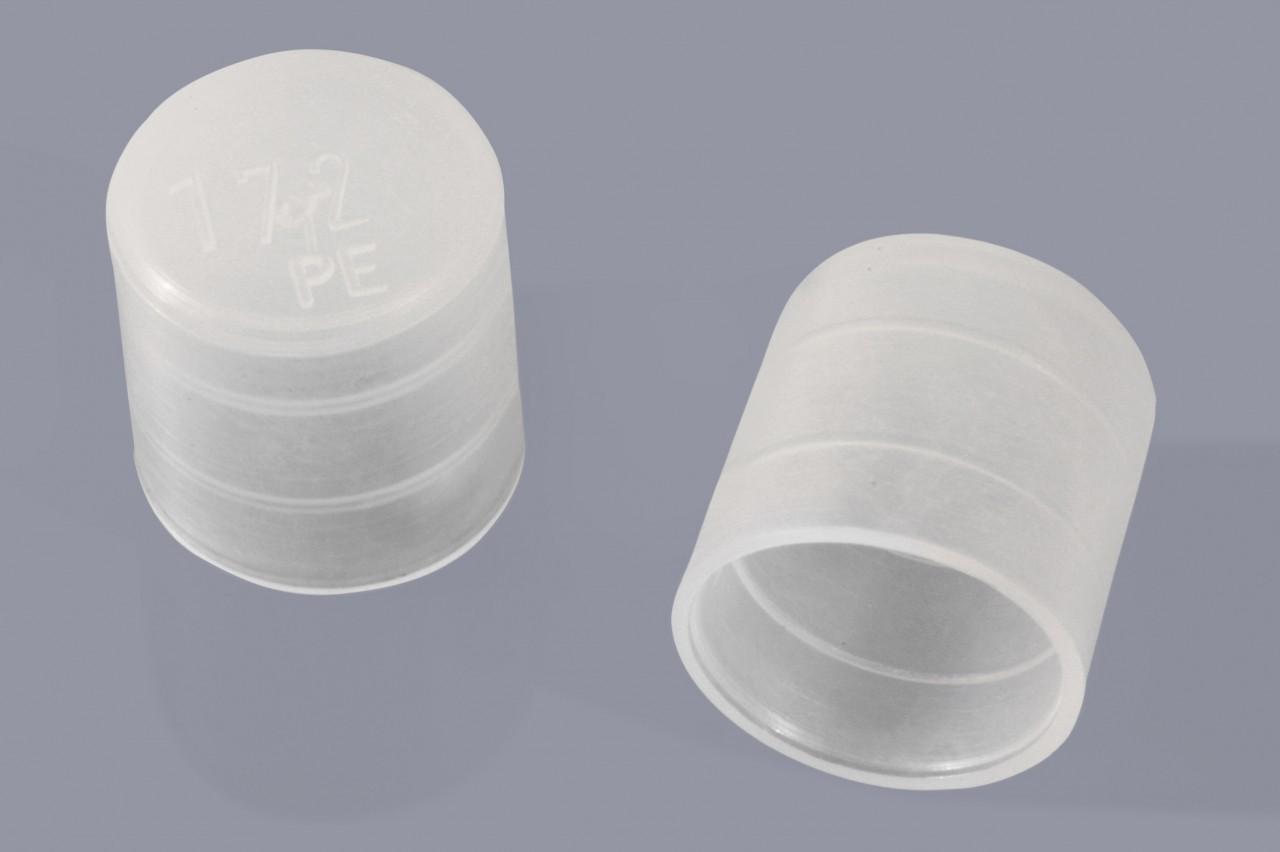 Rohrverschlusskappen mit Haftrillen