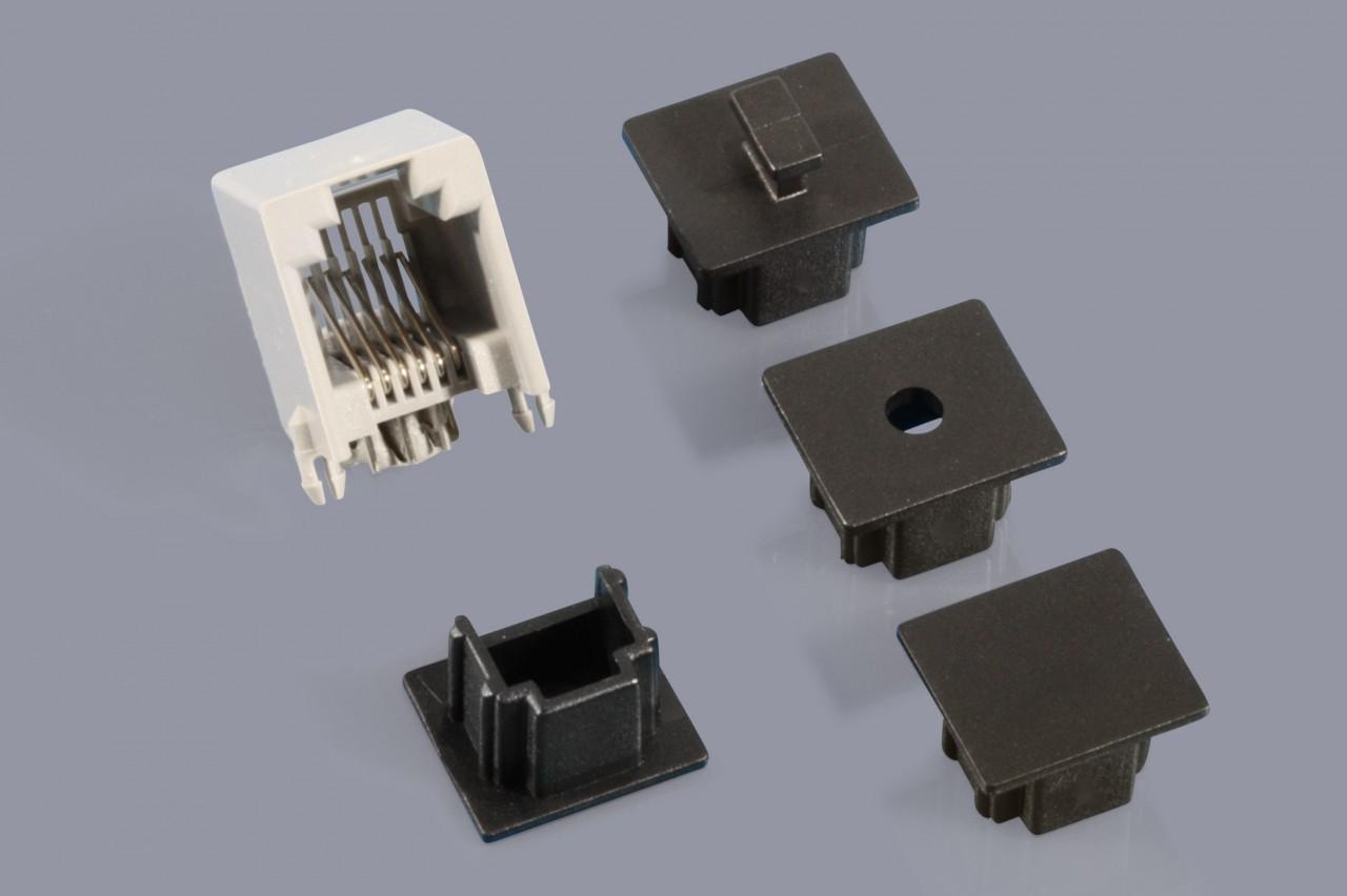 Staubschutzkappen für RJ-11 / RJ-12 / RJ-14 / RJ-22 Buchsen (Modemanschluss)