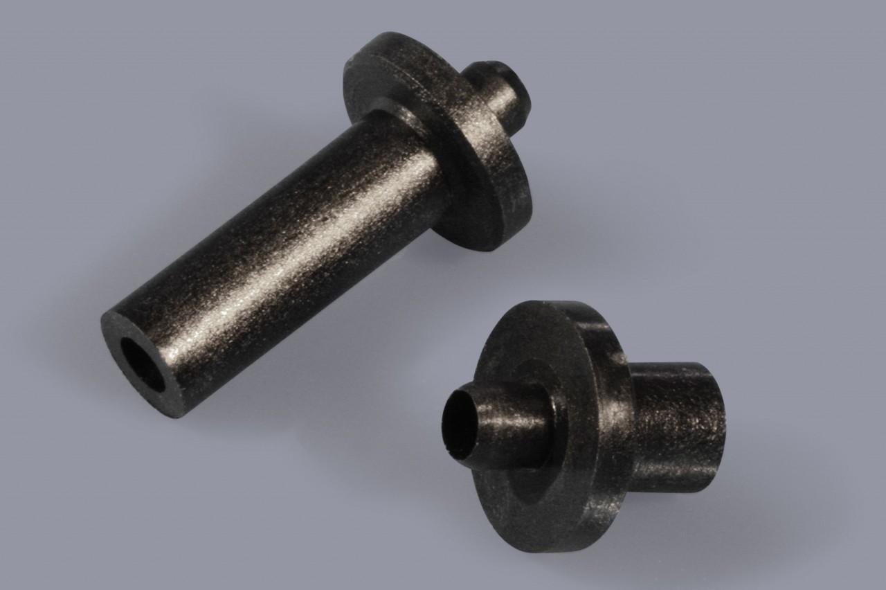Distanzhülsen / Distanzröhrchen aus Kunststoff mit Flansch steckbar