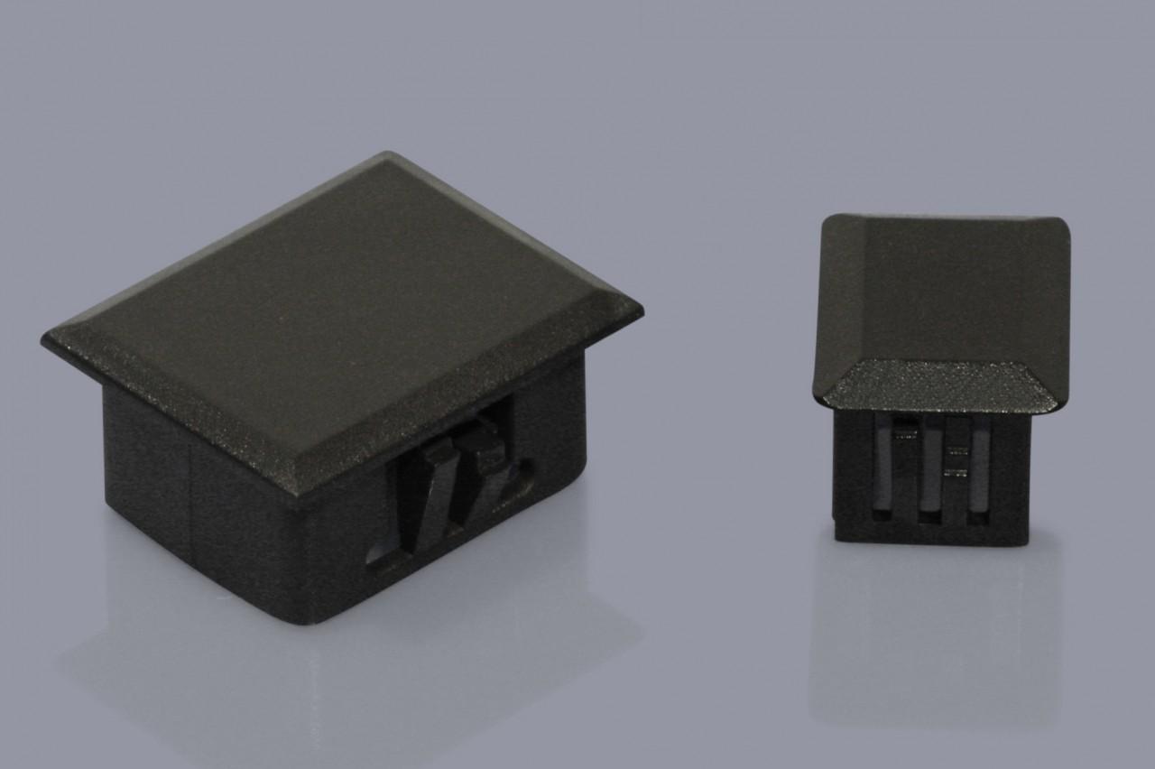 Abdeckungen / Blenden für LWL Blindlöcher bzw. Schutzkappen für Rechteckbohrungen / -ausbrüche