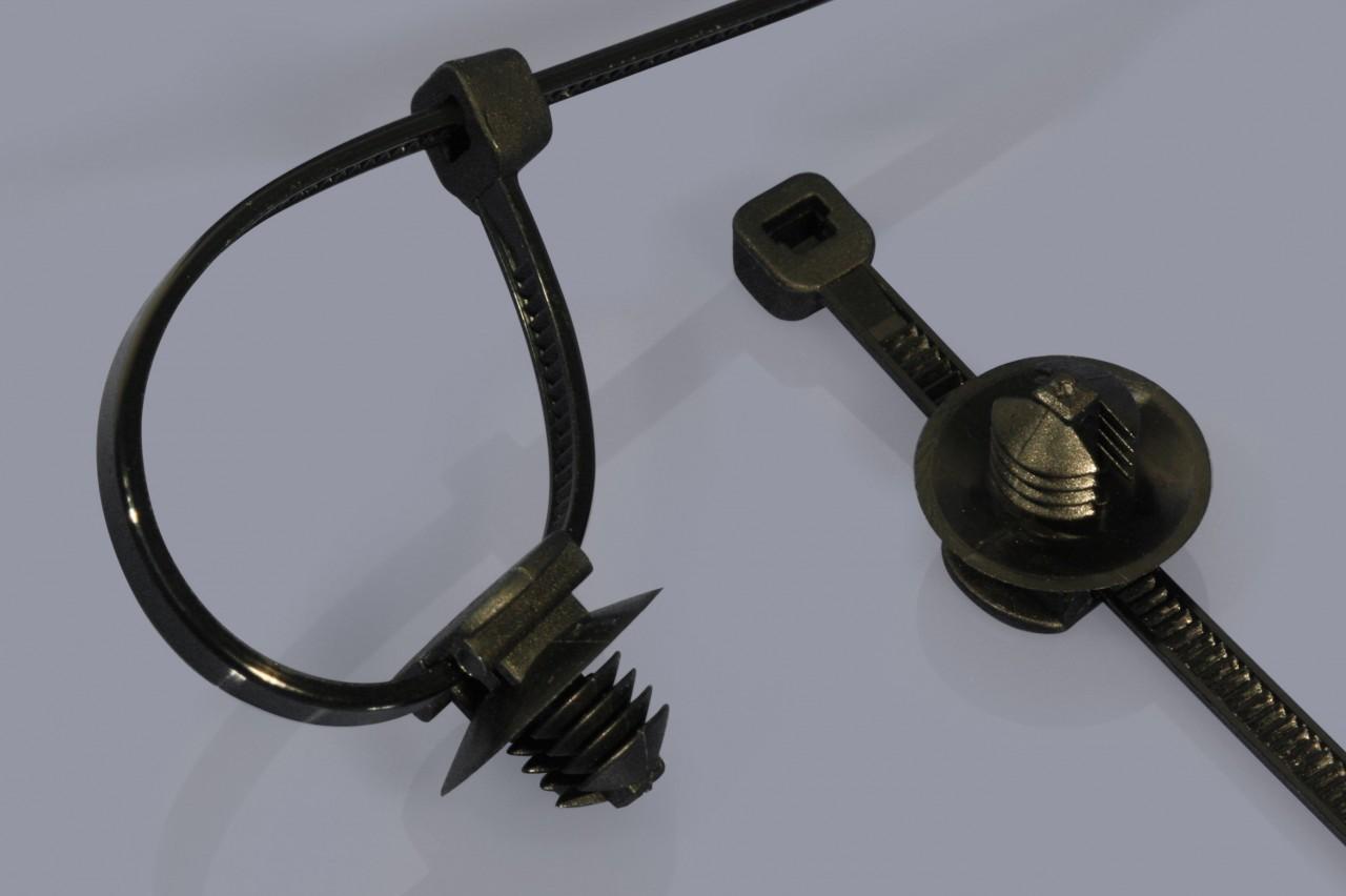 Kabelbinder inkl. Sockel