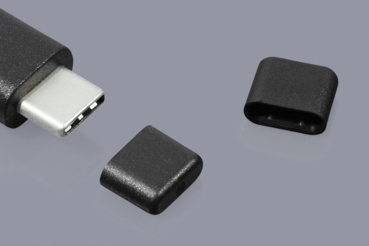 Schutzkappen für USB Typ C 3.1 Stecker und USB Typ C 3.1 Kabel