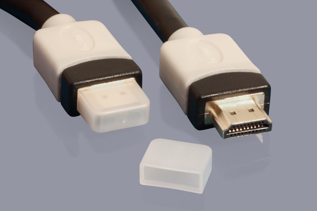 Schutzkappen für HDMI Stecker und HDMI Kabel