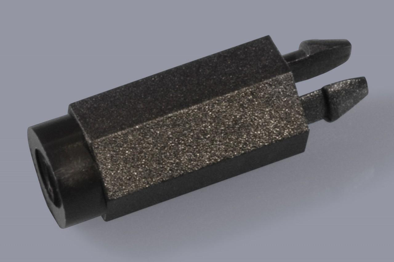 Distanzhalter / Abstandshalter aus Kunststoff verriegelnd und mit Innengewinde
