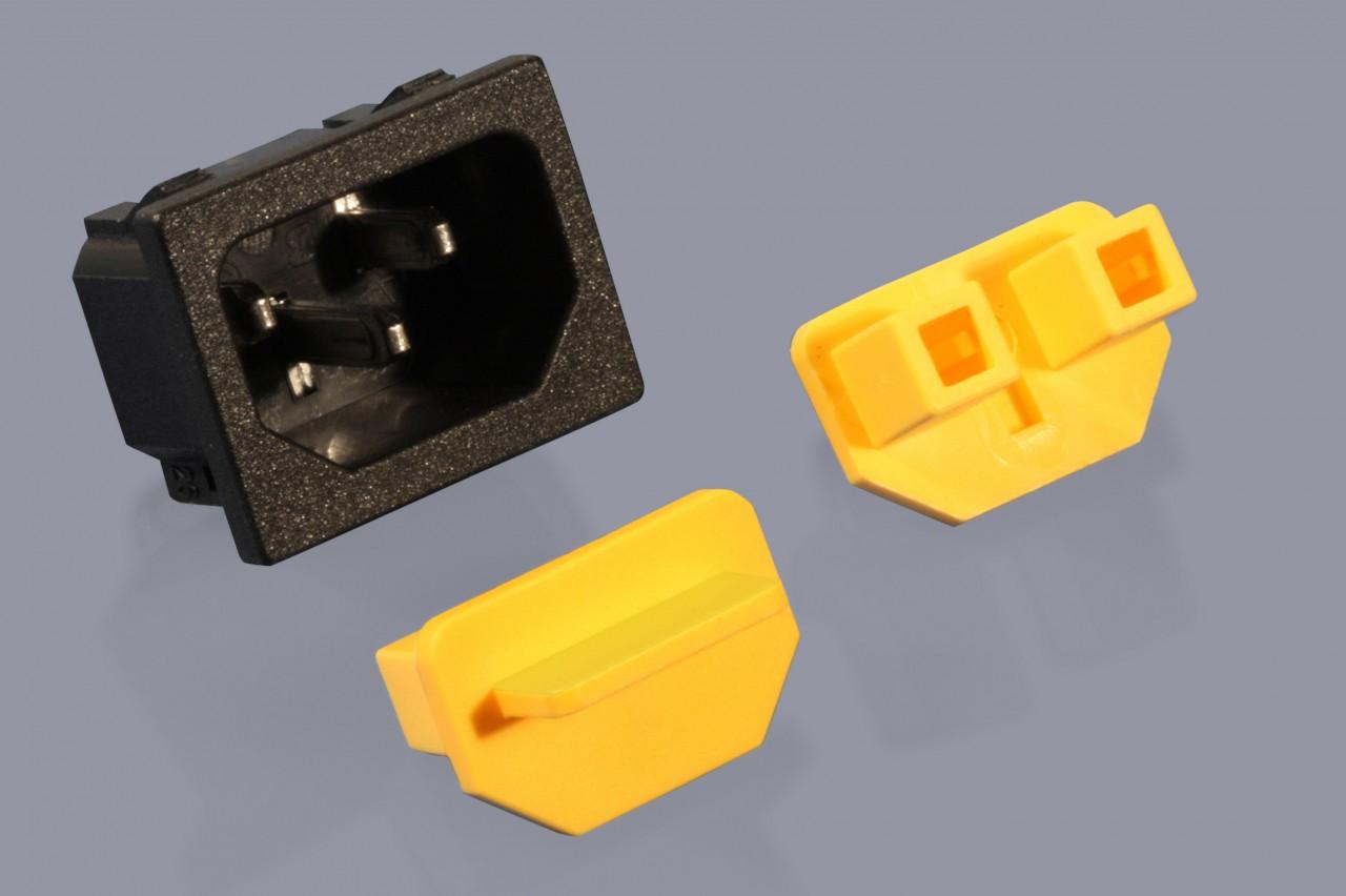 Staubschutzkappen für PC-Netzstecker Buchsen (Kaltstromstecker)