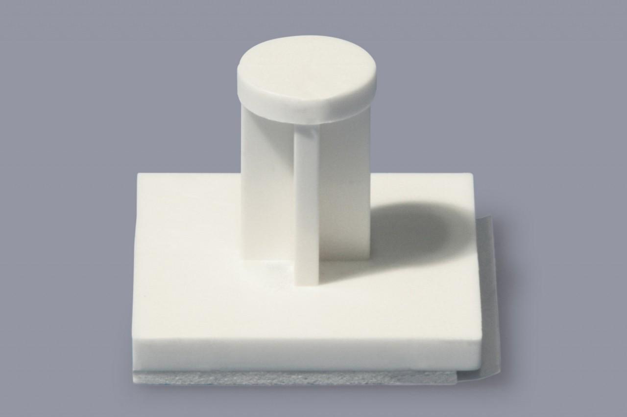 Stützpfosten aus Kunststoff mit Klebesockel