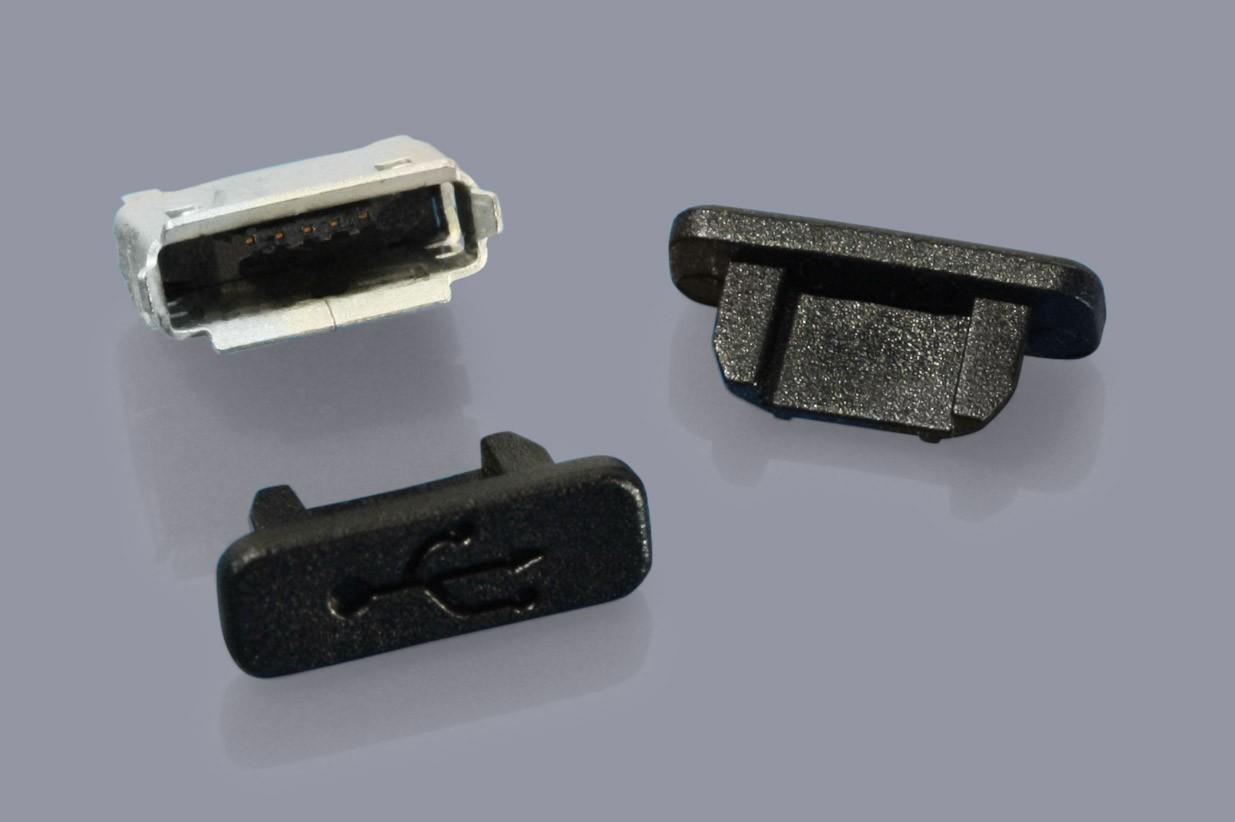 Staubschutzkappen für Micro-USB 2.0 Buchsen