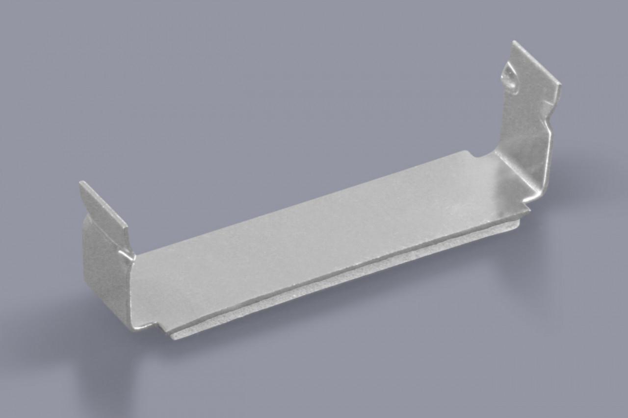 Kabelklammern Kabelhalter für Flachbänder und flache Kabeln zum Kleben aus Aluminium