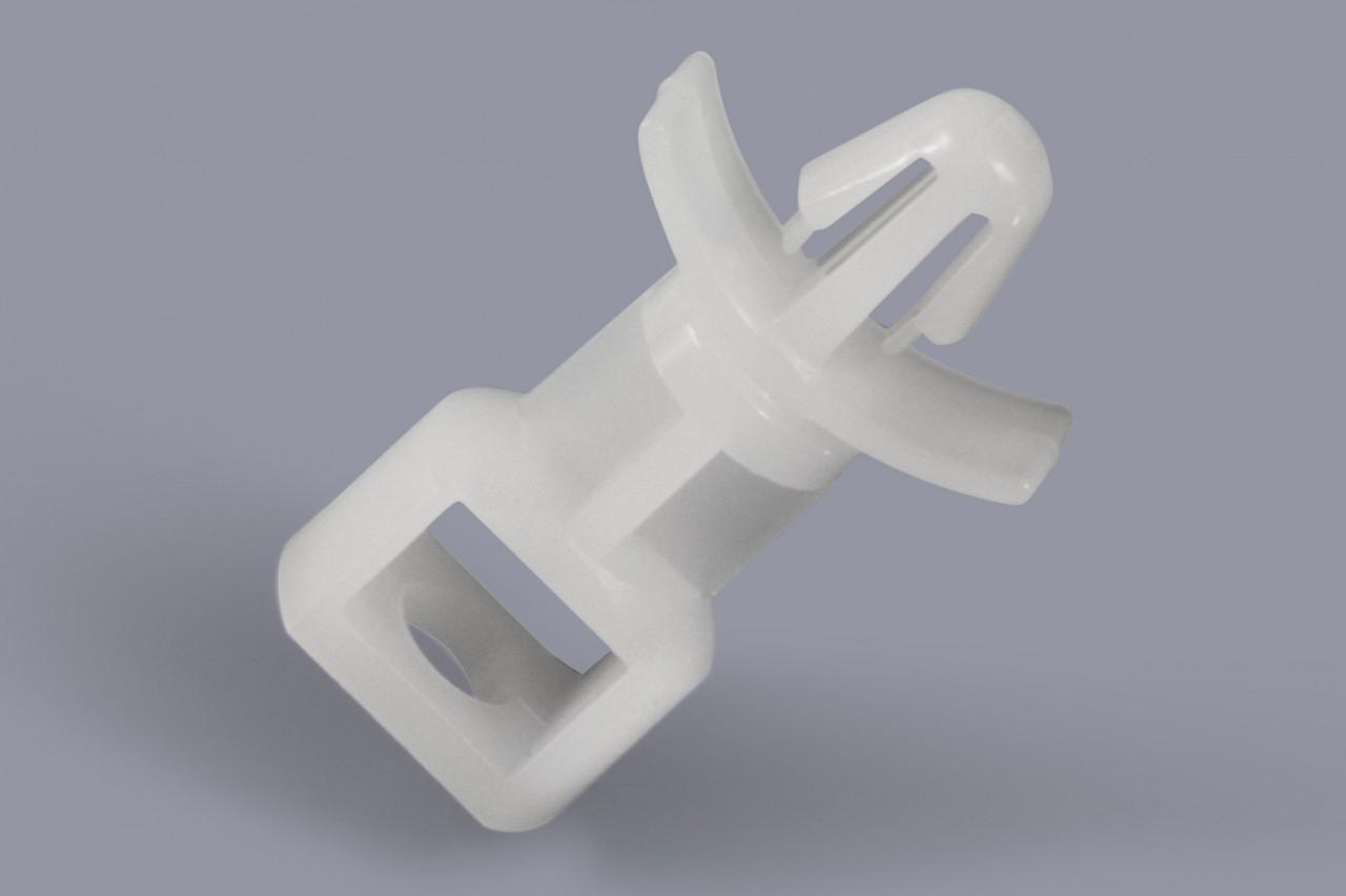 Distanzhalter / Abstandshalter aus Kunststoff mit Fixierung durch Spreizniete