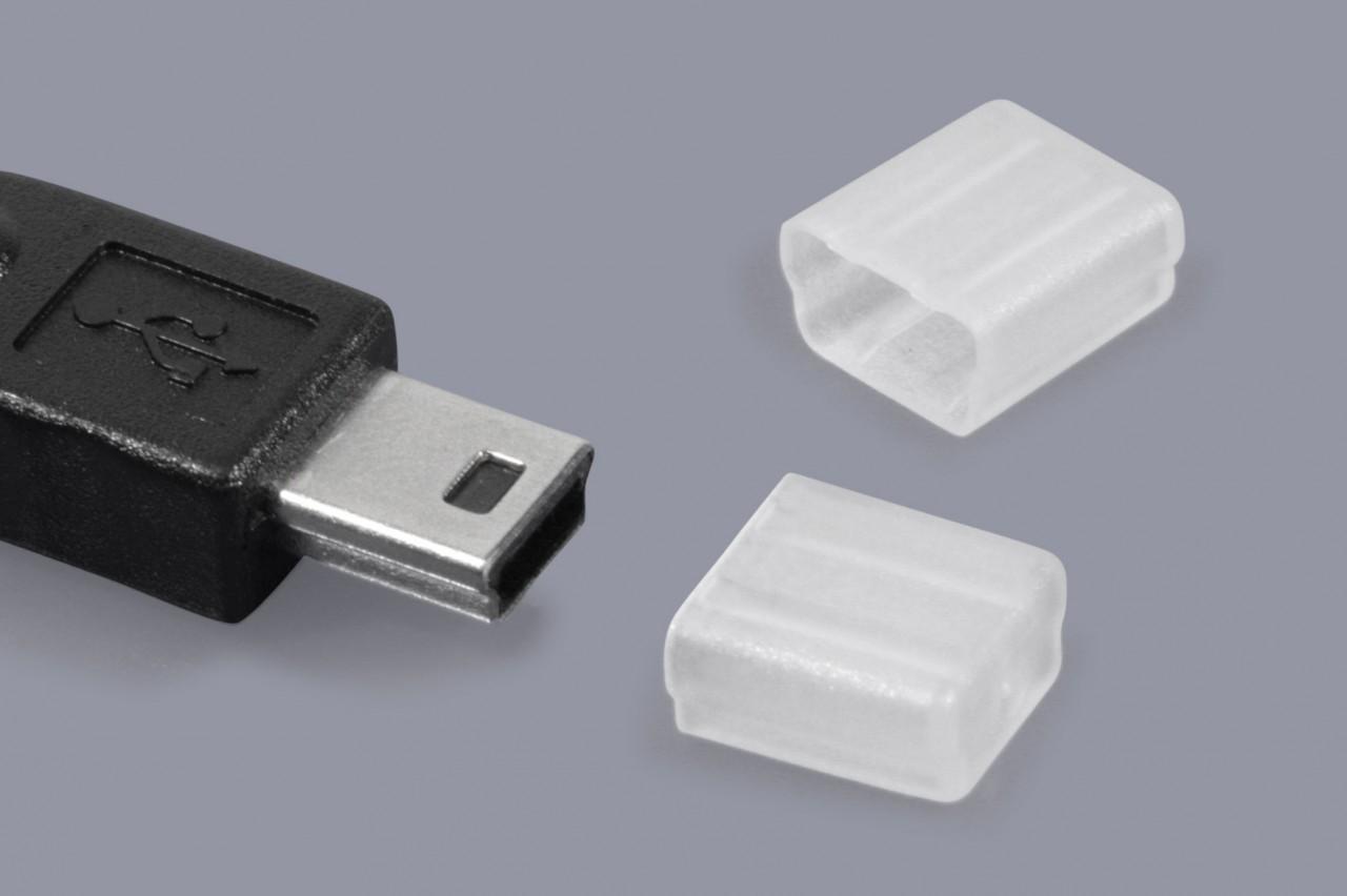 Schutzkappen für Mini-USB Stecker und Mini-USB Kabel