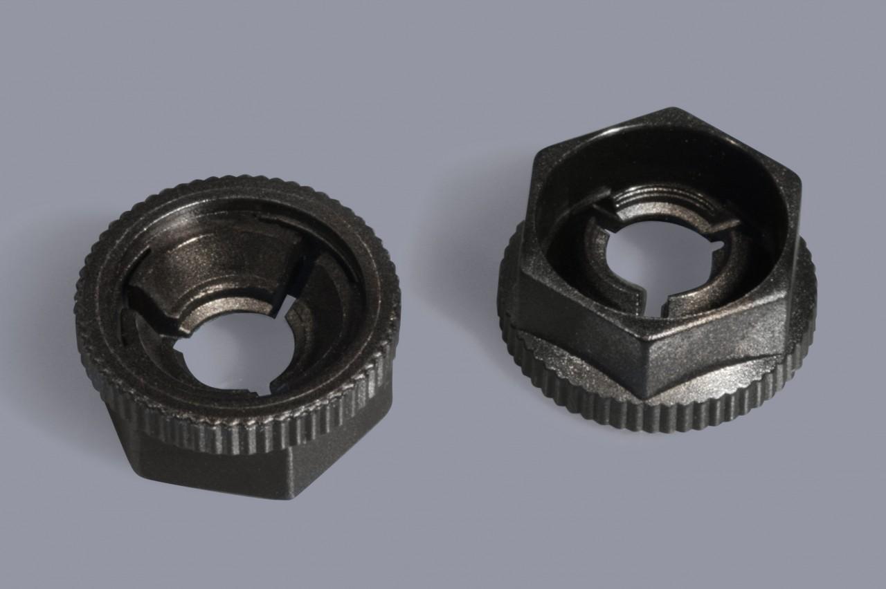 Kunststoff-Steckmuttern schnelle und einfache Montage / KNF Mutter