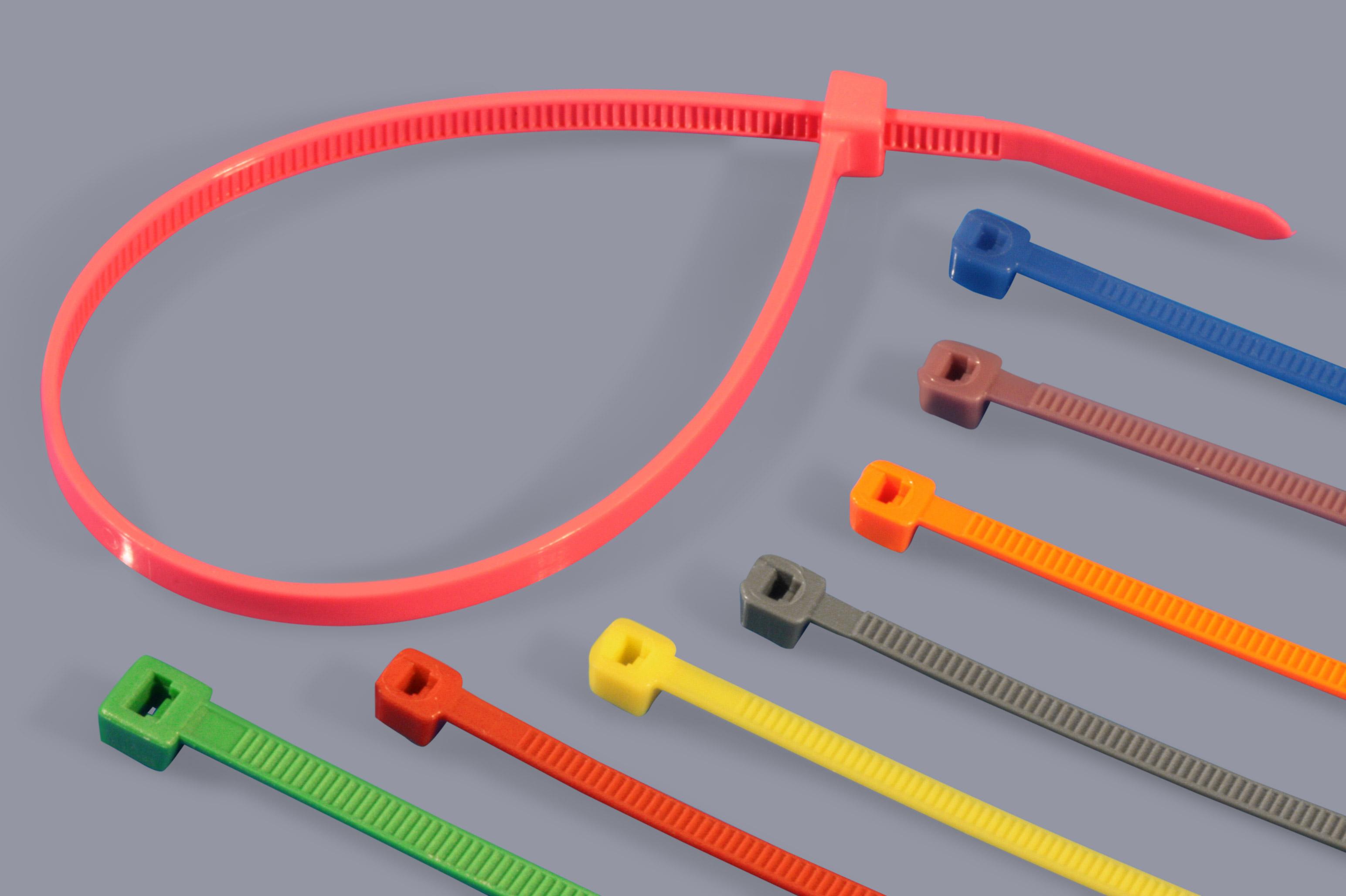 farbige kabelbinder aus kunststoff standard a r t elektromechanik. Black Bedroom Furniture Sets. Home Design Ideas