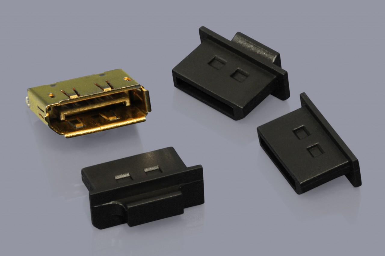 Staubschutzkappen für DisplayPort Buchsen