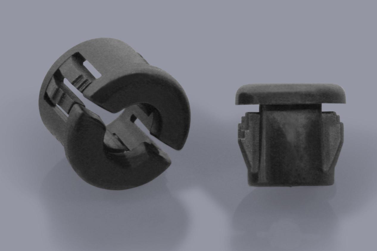 Durchführungstüllen Kabelschutztüllen aus Kunststoff mit leichter Zugentlastung