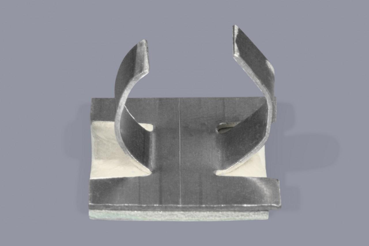 Kabelklammern Kabelhalter für Litzen oder einzelne Kabeln zum Kleben aus Aluminium