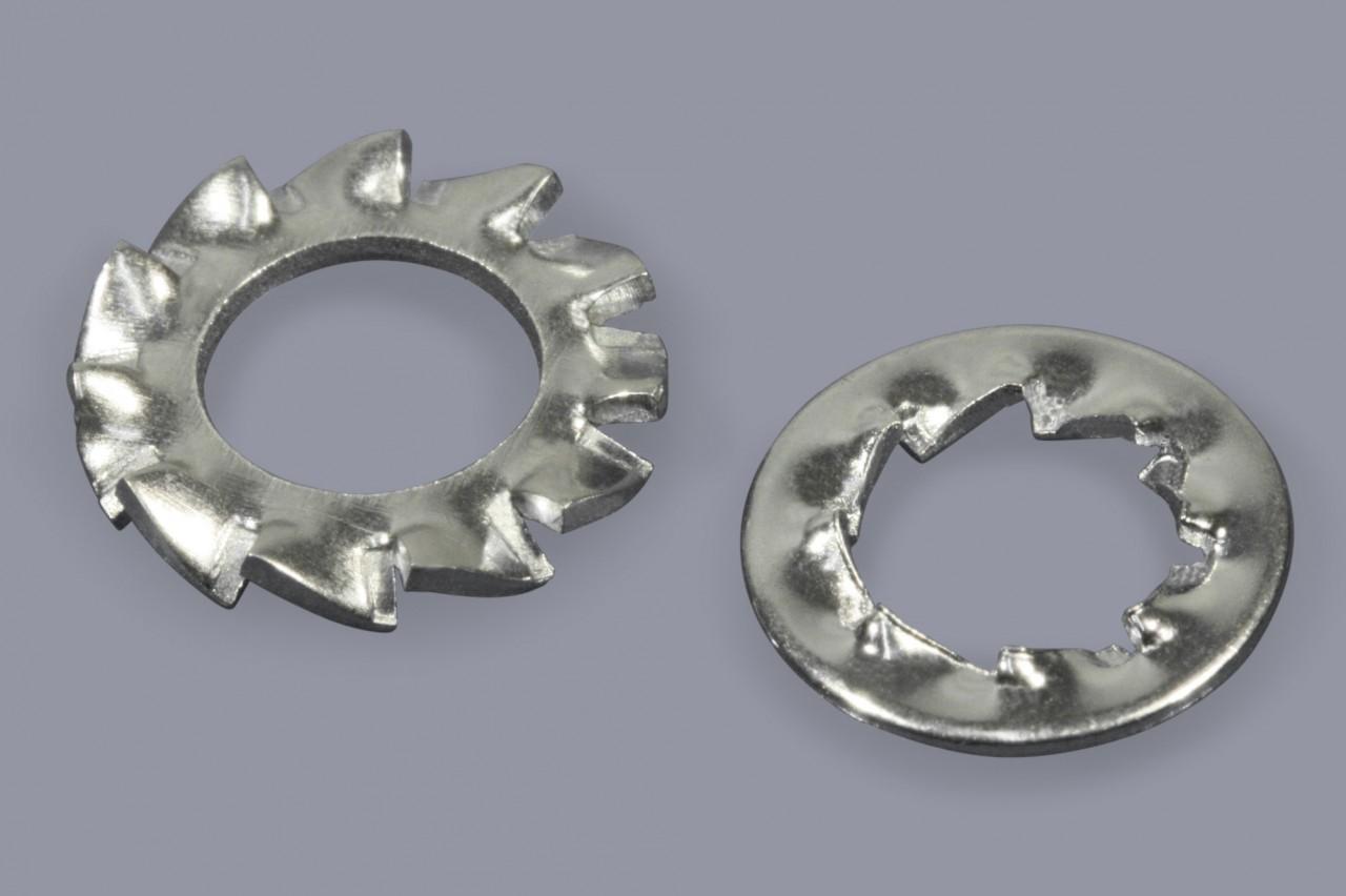 DIN 6798 A - Fächerscheiben aus Metall außengezahnt
