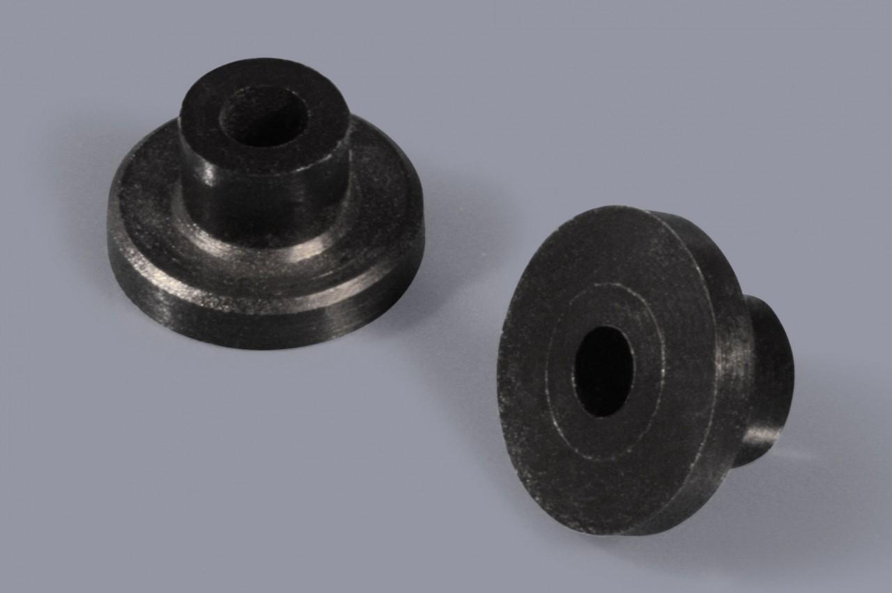 Distanzhülsen / Distanzröhrchen aus Kunststoff mit Flansch
