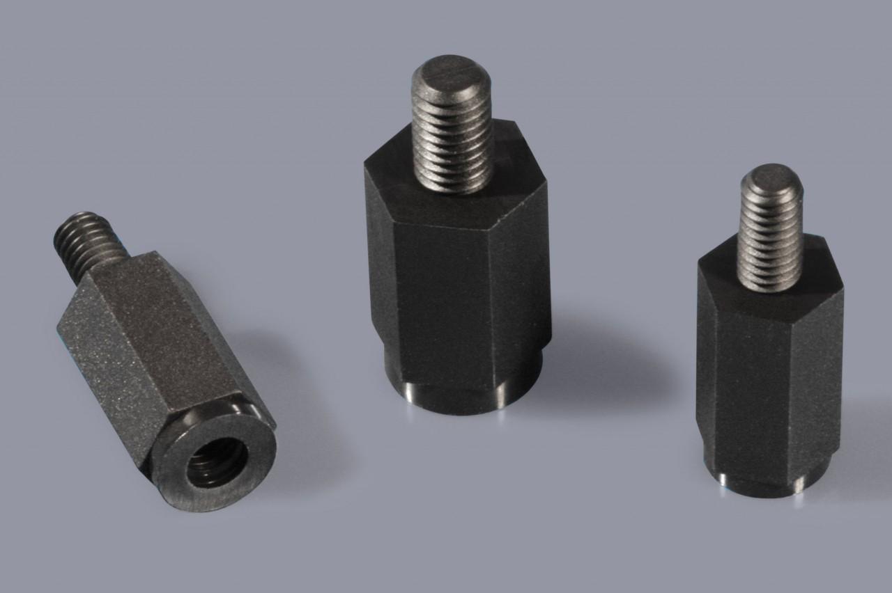 Distanzbolzen / Abstandsbolzen aus Kunststoff mit Außen-/Innen-Gewinde (A/I), sechskant