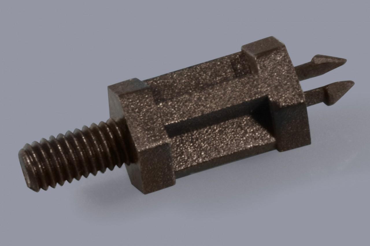 Distanzhalter / Abstandshalter aus Kunststoff verriegelnd und mit Außengewinde